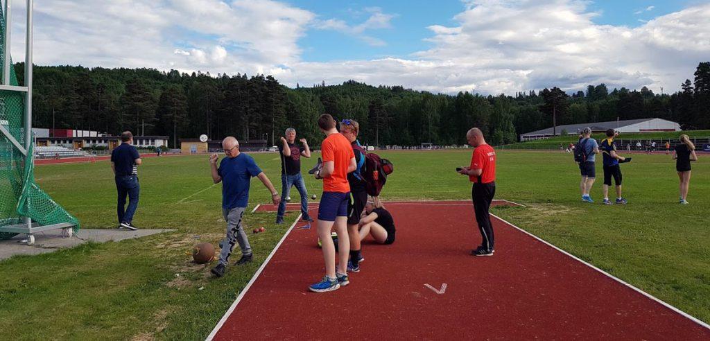RFIK treningsstevne, sleggekastere