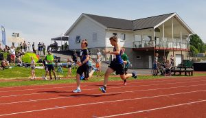 Martin og Marcus på 200 m