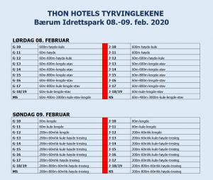 Tyrvinglekene Inne 2020 @ Bærum Idrettspark