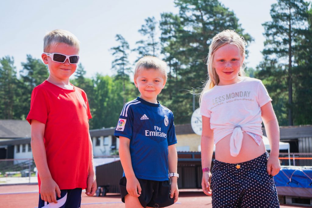 Kule kids i sommervarmen