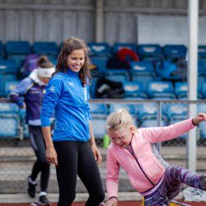Amalie Iuel på RFIKS friidrettsskole 2021