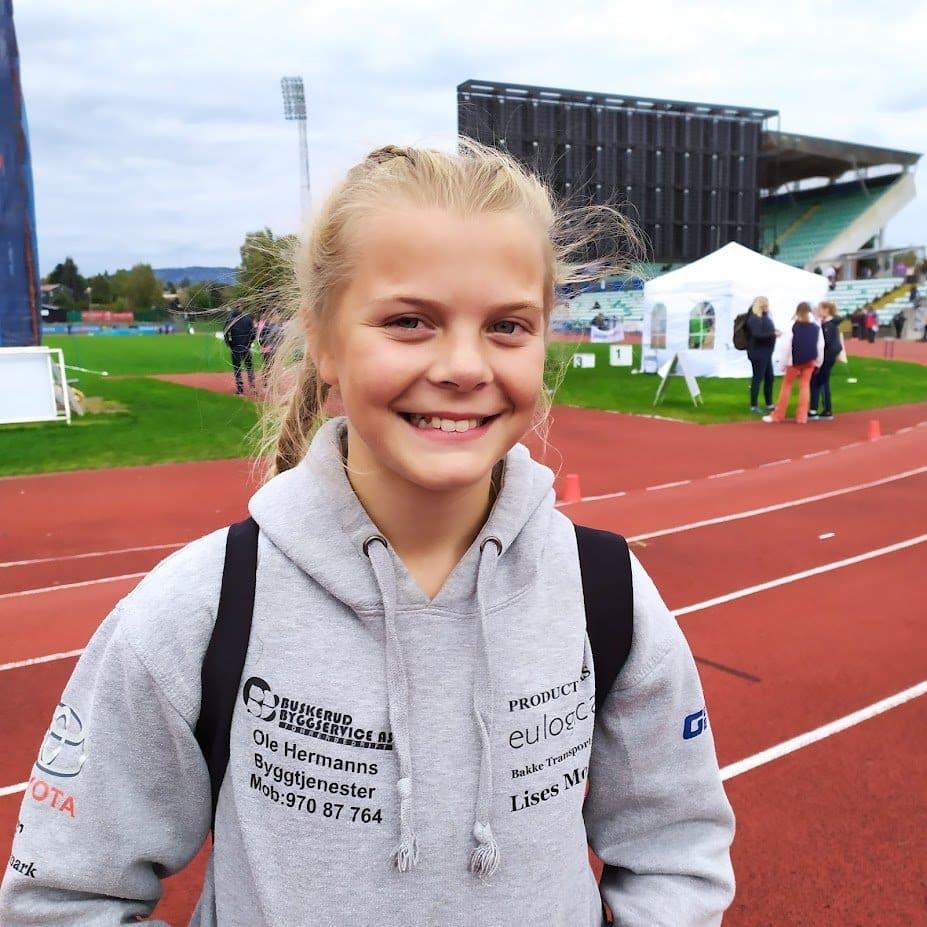 Tuva Fra Eiker Kvikk som stilte opp sammen med RFIKS jenter på stafetten